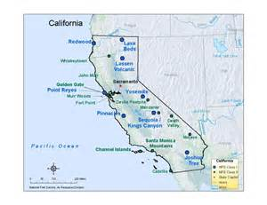 california map yosemite