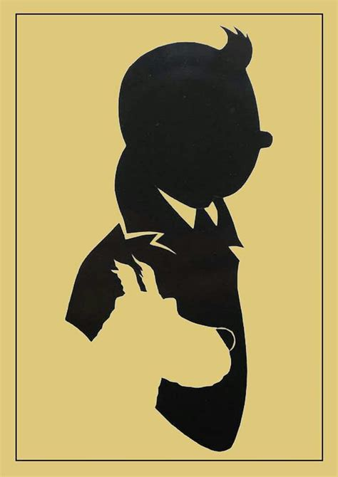 tin tin ombres et or par philippe lamoot posters