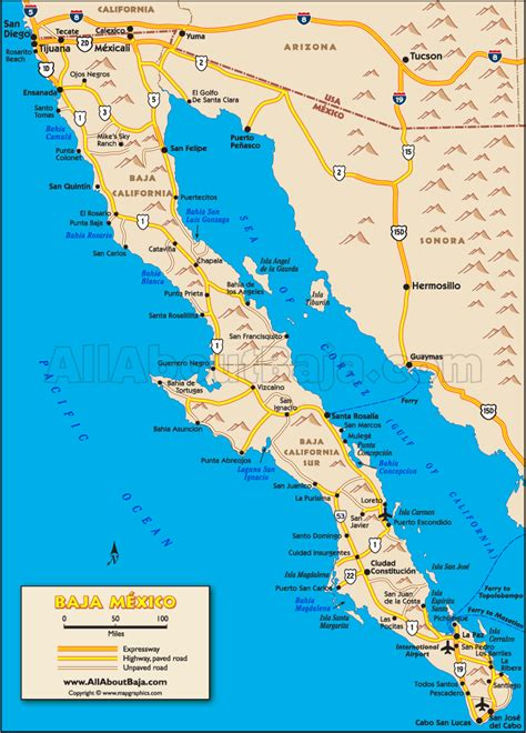 map of baja california baja map the entire peninsula oh the places you ll go