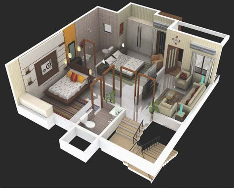 3d plan of house 3d row house floor plans home design and style