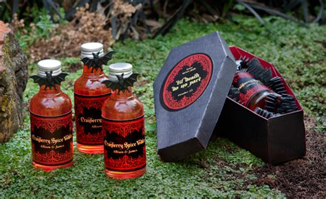 easy diy gothic gifts cranberry spice infused vodka diy coffin gift box evermine weddings