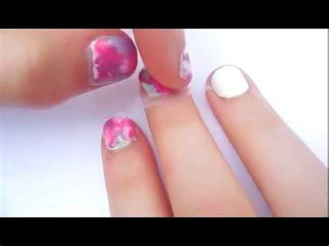super easy nail art youtube super easy watercolor marble nail art with a plastic bag