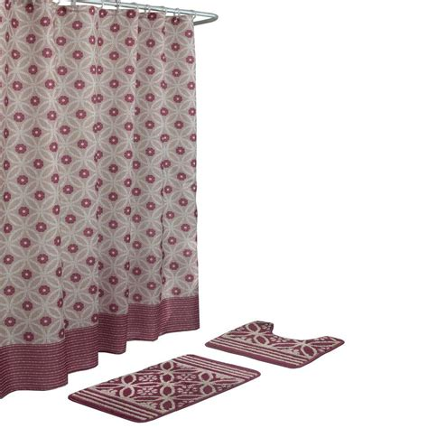 shower curtain set with rugs bath fusion hartford barn linen 15 bath rug and shower curtain set ecb0013148 the