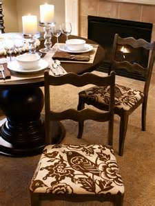 Covering Dining Room Chair Seats How To Re Cover A Dining Room Chair How Tos Diy