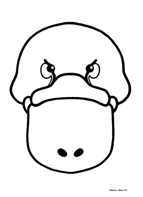 printable echidna mask mask templates for australian other animals