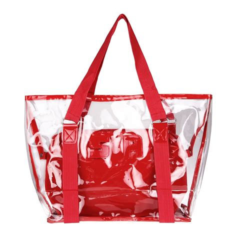 Coach Tote 2in1 808 1 2 in 1 fashion transparent chagne jelly bag tote shoulder clear bag pvc ebay