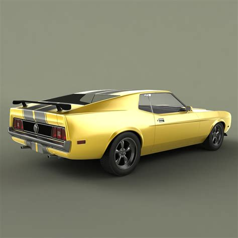 1971 mustang shelby shelby mustang mach1 1971 3d model max obj 3ds