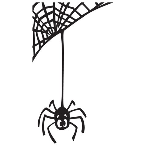 free web clipart spider hanging from web clipart clip net