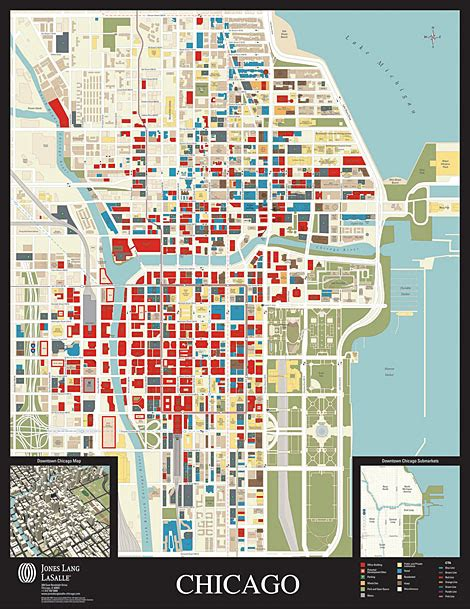 downtown chicago map okrent associates inc planning and zoning real estate marketing and aerial photography experts