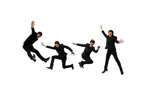 beatles jumping    review beatlemania hits  west