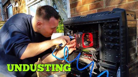 pc undusting    clean pc air compressor youtube