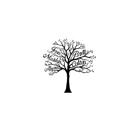 small family tree tattoo designs family tree custom family tree gift
