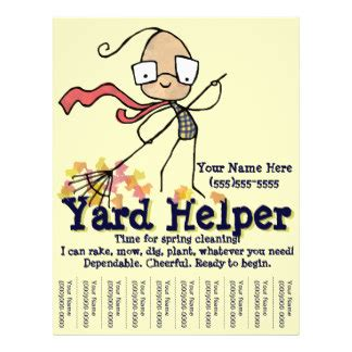 yard work flyers amp programs zazzle