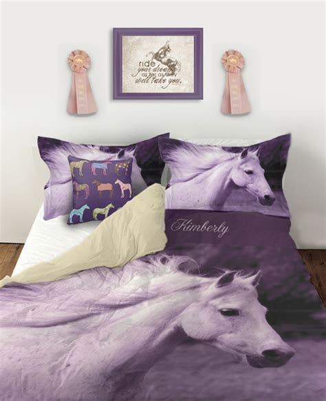equestrian bedding from the painting pony horses heels