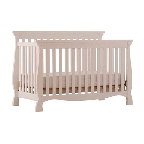 4 In 1 Fixed Side Convertible Crib In White 04587 131 Fixed Side Convertible Crib