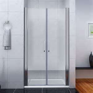 bathroom pivot shower door enclosure 6mm glass