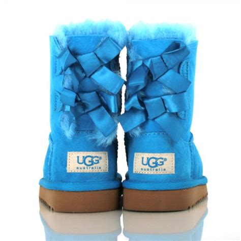 Light Blue Uggs With Bows by Light Blue Bailey Bow Uggs