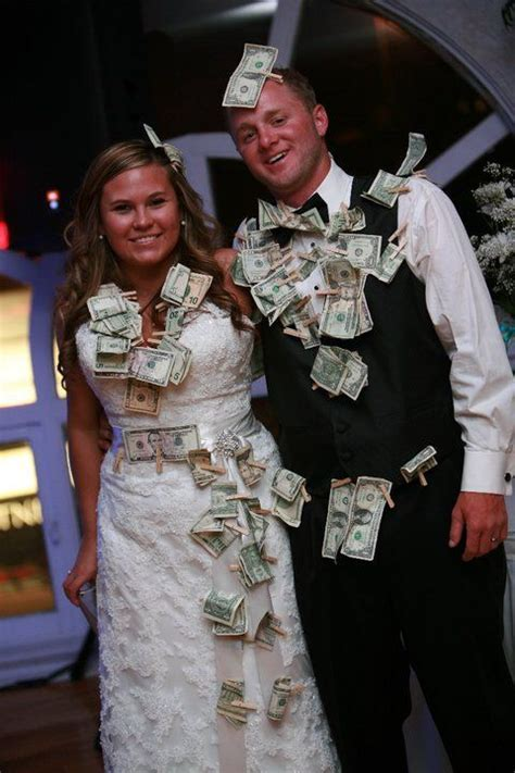 Dollar dance .People pay to dance with the bride and