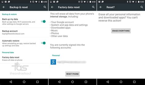 reset android via software factory default software