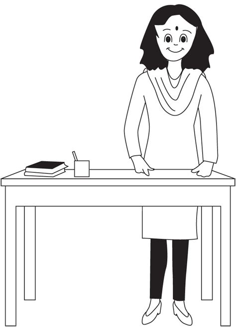 free coloring pages of teacher