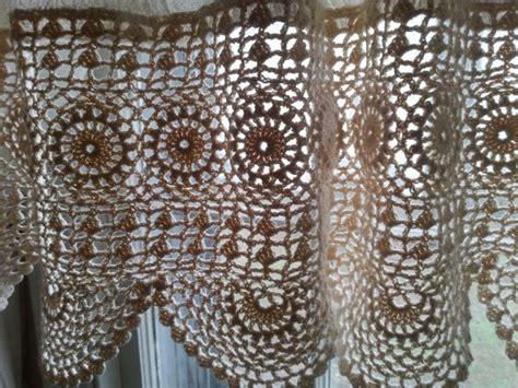 Crochet Valances boho curtain valance wide crochet valance 112 quot wide crochet lace valance muslin