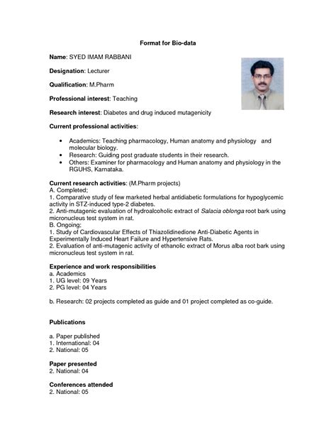 Matrimonial Resume Format India by Useful Matrimonial Resume Sle About Marriage Biodata