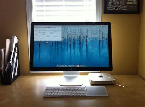 Modern Pc Desk by Mac Setup Clean Amp Simple Mac Mini Desk