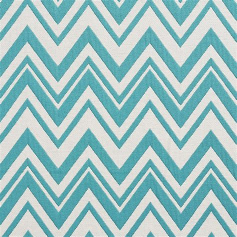 Zig Zag Upholstery Fabric by Teal And White Zig Zag Chevron Upholstery Fabric By The Yard