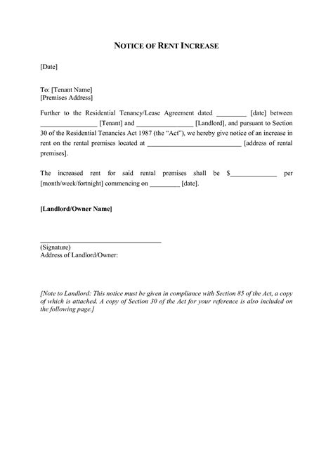 rental application cover letters sample luxury rent increase letter