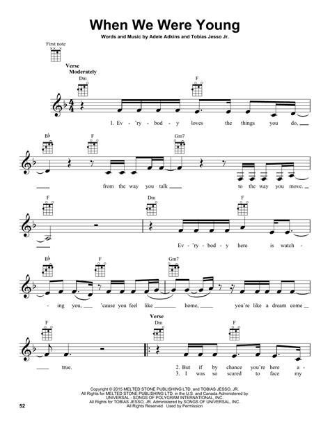 download song when we were young by adele in mp3 when we were young sheet music by adele ukulele 164761