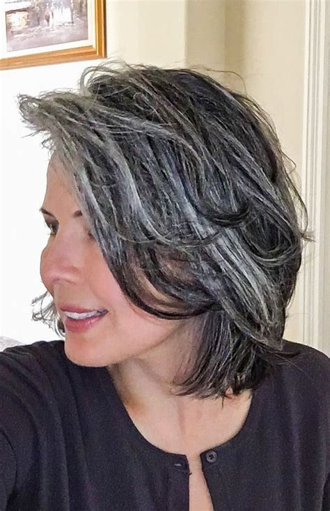 hairstyles for letting grey grow out 92 best images about growing out my gray hair on pinterest