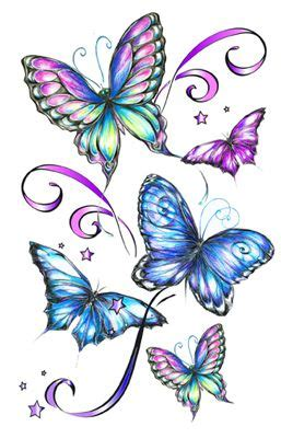 five clipart butterfly pencil and in color five clipart