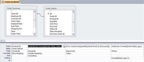format date field in access query access 2010 cross tab report
