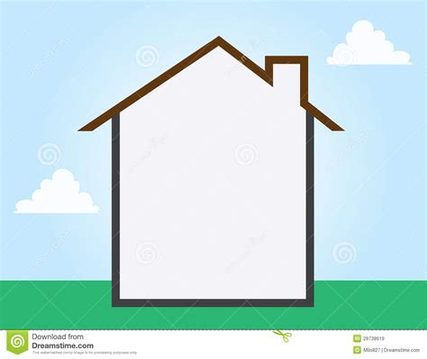 House Outline Empty Stock Vector Image Of Stencil Gray 29738619 Free Room Templates For Artists