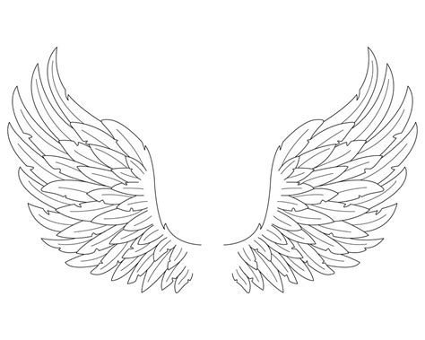 pencil angel wings coloring pages