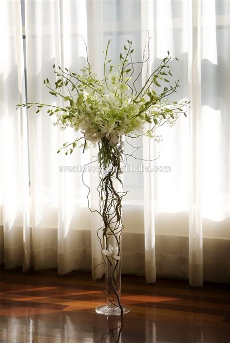 Glass Trumpet Vases Clear Trumpet Glass Vase Vase Wedding Centerpiece And