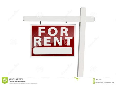 rental realtor for rent real estate sign on white stock images image