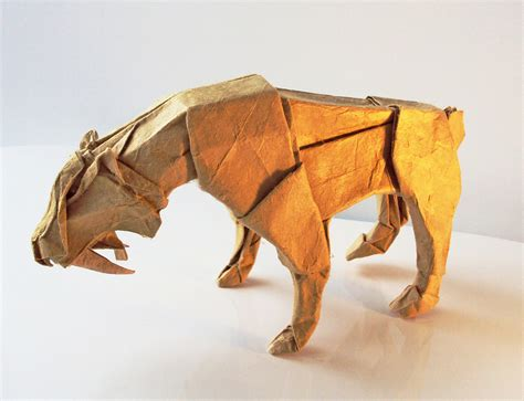 Advanced Origami Tiger - the origami animals of matthieu georger 171 twistedsifter