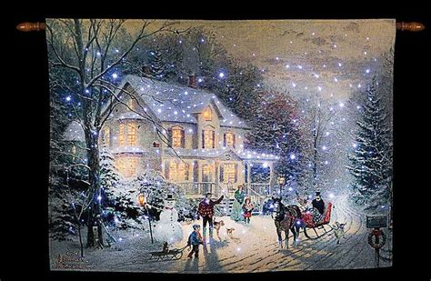 home for the holidays christmas fiber optic tapestry wall