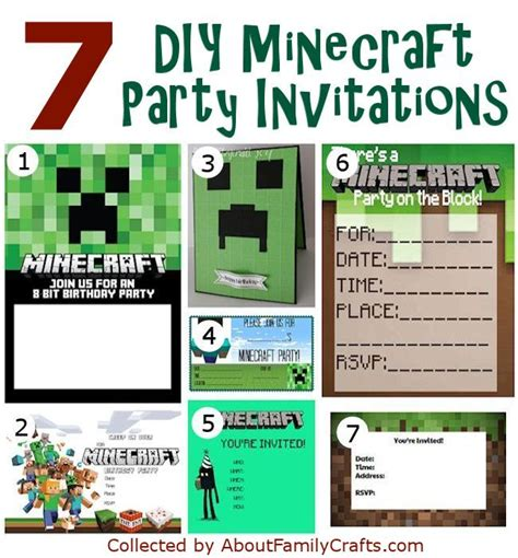 minecraft invitation template free minecraft invitations gangcraft net