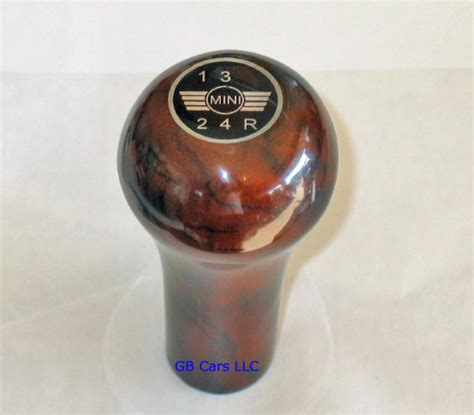 Classic Mini Gear Knob by Great Cars Walnut Gear Shift Knob With Silver