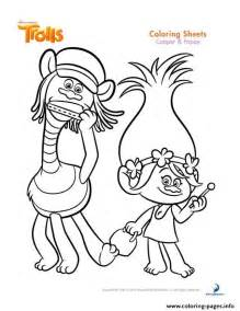 cooper and poppy trolls coloring pages printable