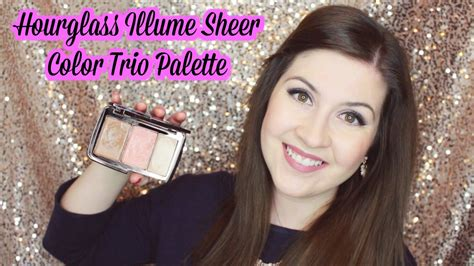 sheer color hourglass illume sheer color trio palette review