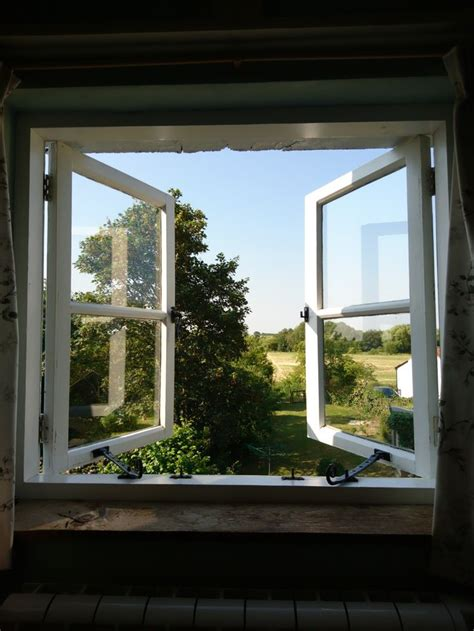 aesthetic windows view country glass wood morning