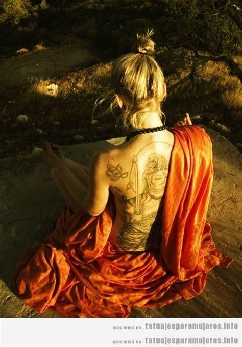 imagenes de mujeres espirituales tatuajes espirituales buda om y mandalas en la espalda