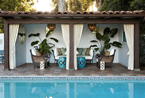 Outdoor Cabana Curtains White Curtains With Teal Accents Cabana Inspiration