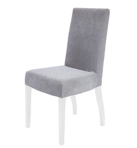 Silver Sofa Table Granada Modern Dining Chairs In Light Grey Fabric White