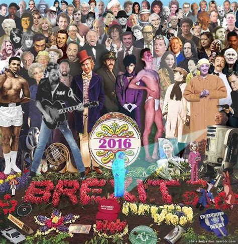what artists have died in 2016 artist recreates sgt pepper s cover art with famous