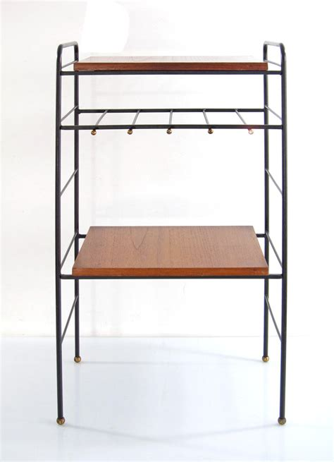 kitchen side table storage sixties vintage kitchen storage table with brass details