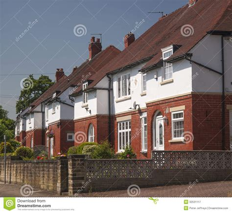 semi detached house or row house 1920s middle class houses stock image image of suburbia